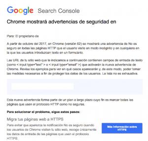 Chrome mostrará advertencias de seguridad