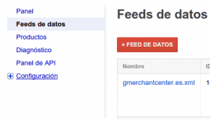 Subir Feed de datos a Merchant Center